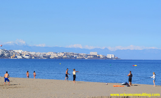 A beach in Fuengirola
