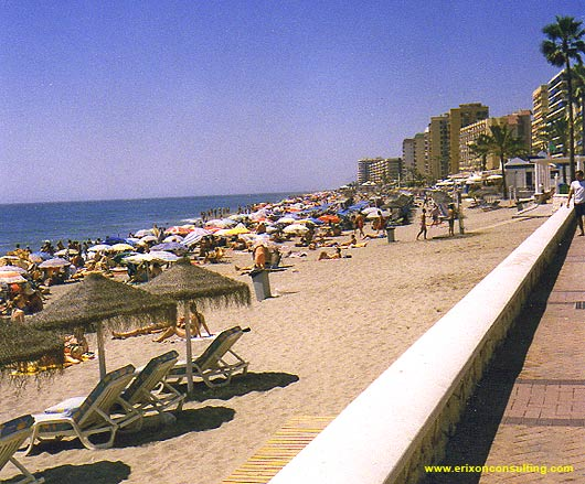 The beach in Fuengirola